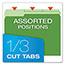 Pendaflex® Colored File Folders, 1/3 Cut Top Tab, Letter, Green/Light Green, 100/Box Thumbnail 6