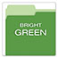 Pendaflex® Colored File Folders, 1/3 Cut Top Tab, Letter, Green/Light Green, 100/Box Thumbnail 4