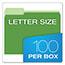Pendaflex® Colored File Folders, 1/3 Cut Top Tab, Letter, Green/Light Green, 100/Box Thumbnail 3