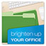 Pendaflex® Colored File Folders, 1/3 Cut Top Tab, Letter, Green/Light Green, 100/Box Thumbnail 2