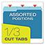 Pendaflex® Colored File Folders, 1/3 Cut Top Tab, Letter, Blue/Light Blue, 100/Box Thumbnail 6