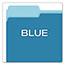 Pendaflex® Colored File Folders, 1/3 Cut Top Tab, Letter, Blue/Light Blue, 100/Box Thumbnail 4