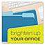 Pendaflex® Colored File Folders, 1/3 Cut Top Tab, Letter, Blue/Light Blue, 100/Box Thumbnail 2