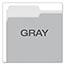 Pendaflex® Colored File Folders, 1/3 Cut Top Tab, Letter, Gray/Light Gray, 100/Box Thumbnail 4