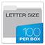 Pendaflex® Colored File Folders, 1/3 Cut Top Tab, Letter, Gray/Light Gray, 100/Box Thumbnail 3