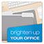 Pendaflex® Colored File Folders, 1/3 Cut Top Tab, Letter, Gray/Light Gray, 100/Box Thumbnail 2