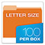 Pendaflex® Colored File Folders, 1/3 Cut Top Tab, Letter, Orange/Light Orange, 100/Box Thumbnail 3