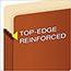 Pendaflex® Standard Expanding File Pockets, Manila, Straight Cut, 1 Pocket, Letter, Redrope, 25/BX Thumbnail 4
