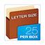 Pendaflex® Standard Expanding File Pockets, Manila, Straight Cut, 1 Pocket, Letter, Redrope, 25/BX Thumbnail 2