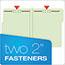 "Pendaflex® Pressboard Folders, 2 Fasteners, 1"" Expansion, 1/3 Cut, Letter, Green, 25/Box Thumbnail 5"