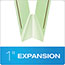 "Pendaflex® Pressboard Folders, 2 Fasteners, 1"" Expansion, 1/3 Cut, Letter, Green, 25/Box Thumbnail 4"