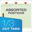 "Pendaflex® Pressboard Folders, 2 Fasteners, 1"" Expansion, 1/3 Cut, Letter, Green, 25/Box Thumbnail 3"