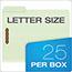"Pendaflex® Pressboard Folders, 2 Fasteners, 1"" Expansion, 1/3 Cut, Letter, Green, 25/Box Thumbnail 2"