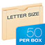 Pendaflex® Reinforced Top File Jacket, 2 Inch Expansion, Letter, Manila, 50/Box Thumbnail 2