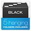 Pendaflex® DecoFlex Letter Size Desktop Hanging File, Plastic, 12 1/4 x 6 x 9 1/2, Black Thumbnail 6