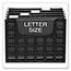 Pendaflex® DecoFlex Letter Size Desktop Hanging File, Plastic, 12 1/4 x 6 x 9 1/2, Black Thumbnail 3