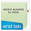 Pendaflex® Pressboard End Tab Classification Folders, Letter, 2 Dividers/6 Section, 10/Box Thumbnail 7