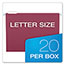 Pendaflex® Earthwise Recycled Hanging Folders, 1/5 Tab, Letter, Assorted Colors, 20/Box Thumbnail 2