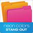 Pendaflex® Glow File Folders, 1/3 Cut Top Tab, Letter, Assorted Colors, 24/Box Thumbnail 6