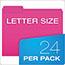 Pendaflex® Glow File Folders, 1/3 Cut Top Tab, Letter, Assorted Colors, 24/Box Thumbnail 3