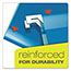 Pendaflex® Reinforced Hanging Folders, 1/5 Tab, Letter, Blue, 25/Box Thumbnail 7