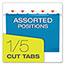 Pendaflex® Reinforced Hanging Folders, 1/5 Tab, Letter, Blue, 25/Box Thumbnail 5