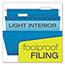 Pendaflex® Reinforced Hanging Folders, 1/5 Tab, Letter, Blue, 25/Box Thumbnail 2