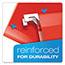 Pendaflex® Reinforced Hanging Folders, 1/5 Tab, Letter, Red, 25/Box Thumbnail 6