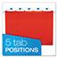 Pendaflex® Reinforced Hanging Folders, 1/5 Tab, Letter, Red, 25/Box Thumbnail 4