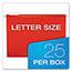 Pendaflex® Reinforced Hanging Folders, 1/5 Tab, Letter, Red, 25/Box Thumbnail 3