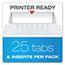 Pendaflex® Reinforced Hanging Folders, 1/5 Tab, Letter, Red, 25/Box Thumbnail 2