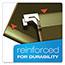 "Pendaflex® Reinforced 2"" Extra Capacity Hanging Folders, 1/5 Tab, Letter, Green, 25/Box Thumbnail 6"