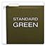"Pendaflex® Reinforced 2"" Extra Capacity Hanging Folders, 1/5 Tab, Letter, Green, 25/Box Thumbnail 5"
