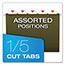 "Pendaflex® Reinforced 2"" Extra Capacity Hanging Folders, 1/5 Tab, Letter, Green, 25/Box Thumbnail 4"