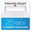 "Pendaflex® Reinforced 2"" Extra Capacity Hanging Folders, 1/5 Tab, Letter, Green, 25/Box Thumbnail 2"