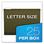 "Pendaflex® Reinforced 4"" Extra Capacity Hanging Folders, Letter, Standard Green, 25/Box Thumbnail 3"