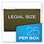 Pendaflex® Reinforced Hanging File Folders, 1/3 Tab, Legal, Standard Green, 25/Box Thumbnail 4