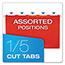 Pendaflex® Reinforced Hanging Folders, 1/5 Tab, Legal, Assorted, 25/Box Thumbnail 4