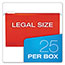 Pendaflex® Reinforced Hanging Folders, 1/5 Tab, Legal, Assorted, 25/Box Thumbnail 3