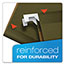 Pendaflex® Reinforced Hanging File Folders, 1/5 Tab, Legal, Standard Green, 25/Box Thumbnail 6
