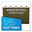 Pendaflex® Reinforced Hanging File Folders, 1/5 Tab, Legal, Standard Green, 25/Box Thumbnail 4