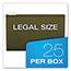 Pendaflex® Reinforced Hanging File Folders, 1/5 Tab, Legal, Standard Green, 25/Box Thumbnail 3