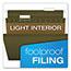 Pendaflex® Reinforced Hanging File Folders, 1/5 Tab, Legal, Standard Green, 25/Box Thumbnail 2