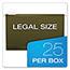 "Pendaflex® Reinforced 2"" Extra Capacity Hanging Folders, Legal, Standard Green, 25/Box Thumbnail 3"