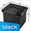 Pendaflex® Portafile File Storage Box, Letter, Plastic, 11 x 14 x 11-1/8, Black Thumbnail 5
