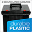 Pendaflex® Portafile File Storage Box, Letter, Plastic, 11 x 14 x 11-1/8, Black Thumbnail 4