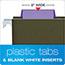 Pendaflex® Hanging File Folder Tabs, 1/5 Tab, Two Inch, Violet Tab/White Insert, 25/Pack Thumbnail 6
