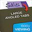 Pendaflex® Hanging File Folder Tabs, 1/5 Tab, Two Inch, Violet Tab/White Insert, 25/Pack Thumbnail 5