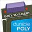 Pendaflex® Hanging File Folder Tabs, 1/5 Tab, Two Inch, Violet Tab/White Insert, 25/Pack Thumbnail 4