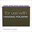 Pendaflex® Hanging File Folder Tabs, 1/5 Tab, Two Inch, Violet Tab/White Insert, 25/Pack Thumbnail 3